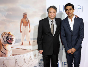 Director Ang Lee and Suraj Sharma at the California premiere of &quot;Life of Pi.